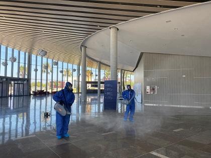 El Auditorio Internacional de Torrevieja desinfecta sus instalaciones con la técnica de la nebulización