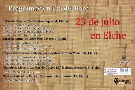 Elche celebra el Día del Libro este jueves 23 con un 10% de descuento