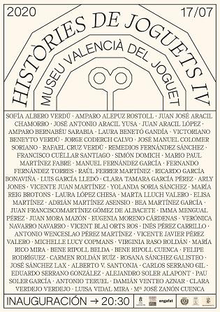 """IV edición de la Exposición Colectiva """"Històries de Joguets"""" en el Museo Valenciano del Juguete de Ibi"""