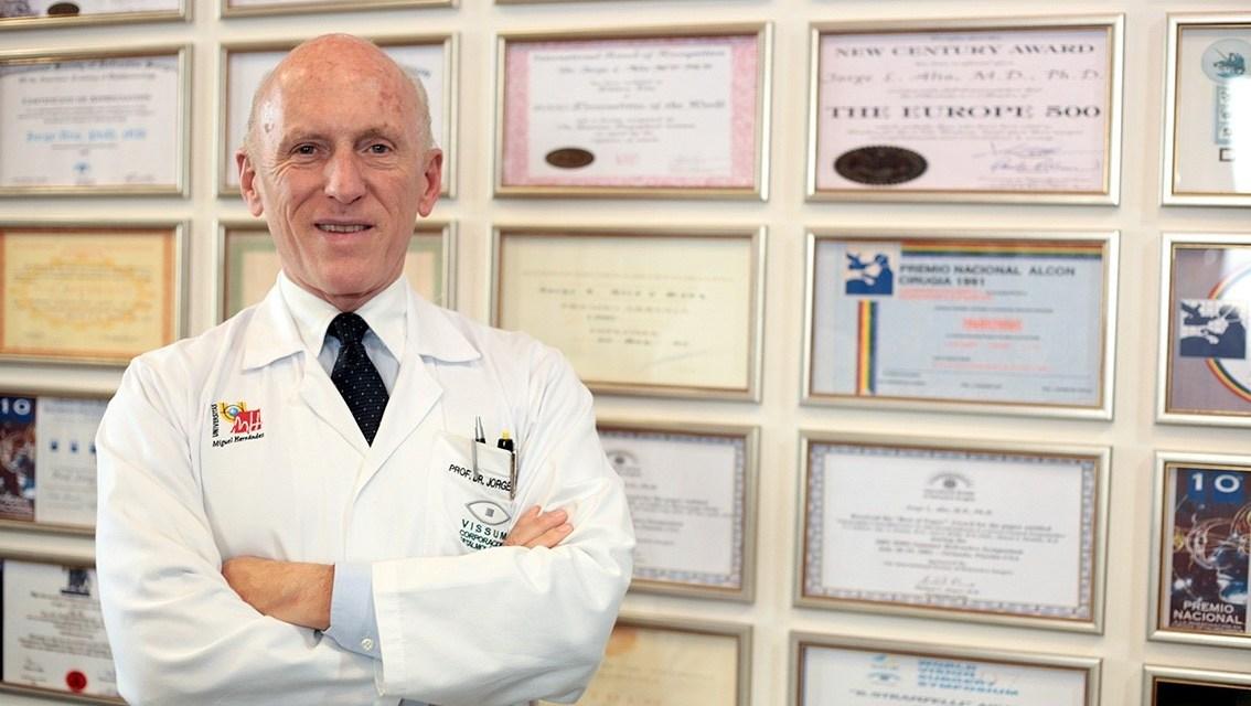 El alicantino Jorge Alió vuelve a destacar entre los 100 oftalmólogos más influyentes del mundo
