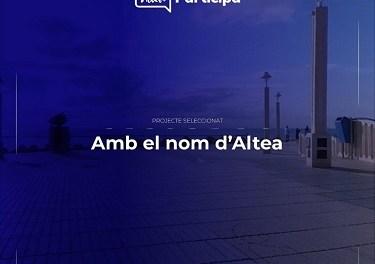 """Una nueva escultura en la ciudad """"Amb el Nom d'Altea"""""""