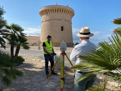 Expertos en ingeniería civil de la Universidad de Alicante escanean la Torre de La Illeta de El Campello para diagnosticarla y determinar futuras restauraciones