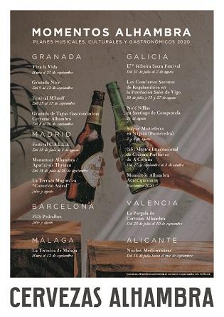 Descubre los mejores planes musicales, culturales y gastronómicos de la mano de Cervezas Alhambra