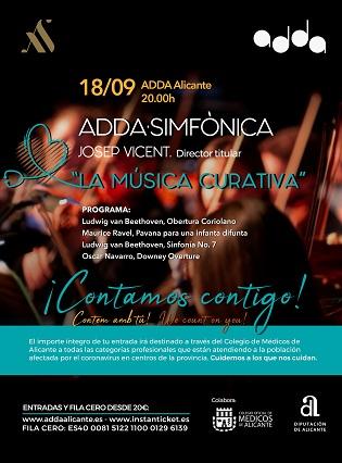 El ADDA acoge un concierto benéfico para combatir la COVID-19 en colaboración con el Colegio de Médicos
