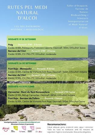 Vuelven las rutas por el medio natural y el patrimonio histórico y arqueológico de Alcoy a cargo del alumnado del taller de empleo