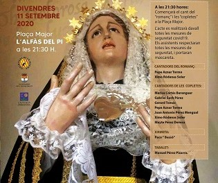 L'Alfàs celebra este viernes la fiesta de 'Les Copletes' sin danzas y con medidas anticovid