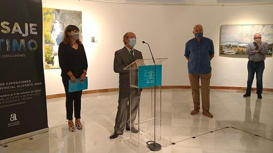 La Diputación inaugura la exposición 'Paisaje Íntimo' del artista alcoyano Jorge Cerdá Gironés