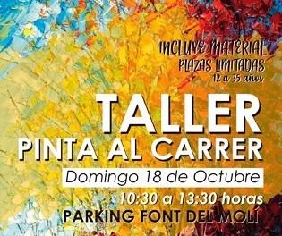 """Finestrat celebra una nova edició de """"Pinta al carrer"""" a la Font del Molí"""