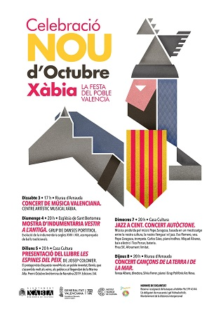 Xàbia homenajea la cultura valenciana con la programación del 9 d'Octubre