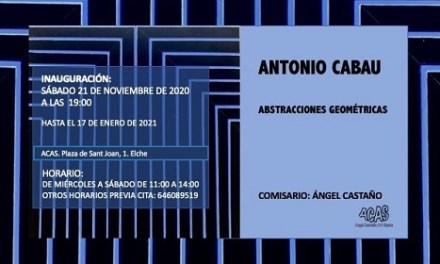 La Galeria ACAS d'Elx inaugura l'exposició Abstraccions geomètriques d'Antonio Cabau