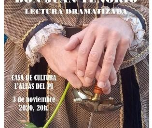 La Casa de Cultura de l'Alfàs acoge hoy una lectura teatralizada de Don Juan Tenorio