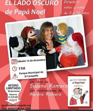 """El Parque Central de El Campello escenario de """"El lado oscuro de Papá Noel"""", un cuento que da luz a las ideas del alumnado del Rafael Altamira"""