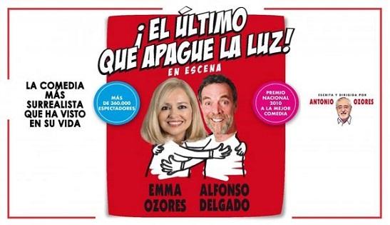 L'obra 'El último que apague la luz' d'Antonio Ozores arriba aquest cap de setmana al Gran Teatre d'Elx
