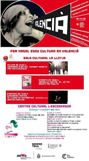 Teatro en Elche para toda la familia esta semana en el ciclo 'Per Nadal 2020 Cultura en valencià!' y concierto de Año Nuevo