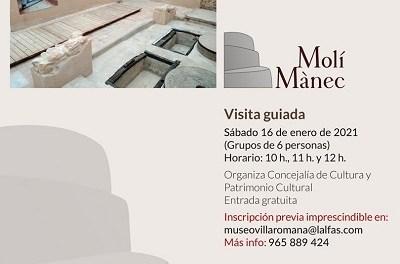 Les regidories de Cultura i Patrimoni de l'Alfàs organitzen visites guiades al Molí de Mànec