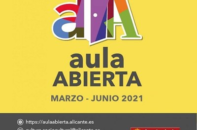 La Regidoria de Cultura d'Alacant presenta el programa en línia d'Aula Oberta amb 53 activitats, a desenvolupar de març a juny