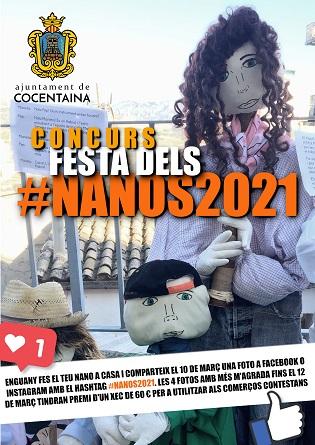 La Regidoria de Tradicions de Cocentaina organitza un concurs de fotos en les xarxes socials per a celebrar de manera virtual els Nanos de 2021