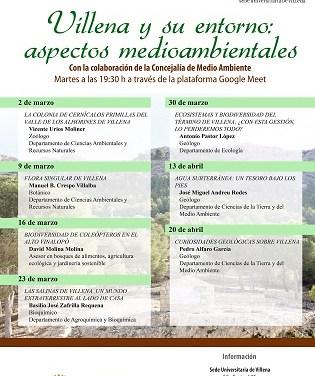 La Sede Universitaria y Medio Ambiente organizan el ciclo de charlas 'Villena y su entorno: aspectos medioambientales'