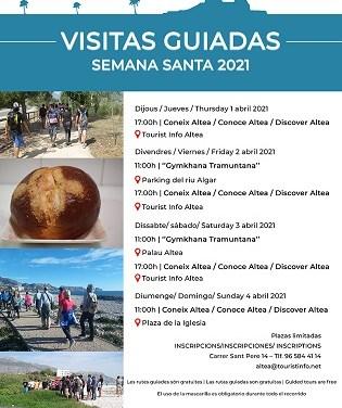 Turismo de Altea anuncia las Visitas Guiadas de Semana Santa