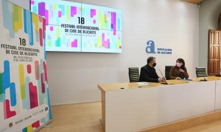 La Diputació acull la presentació del cartell del Festival de Cinema d'Alacant, una colorista obra del dissenyador Alfredo León