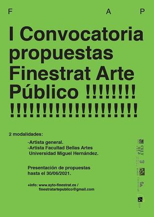 """El ayuntamiento de Finestrat  apuesta por la cultura en el contexto urbano y natural con la convocatoria """"Finestrat Arte Público"""""""