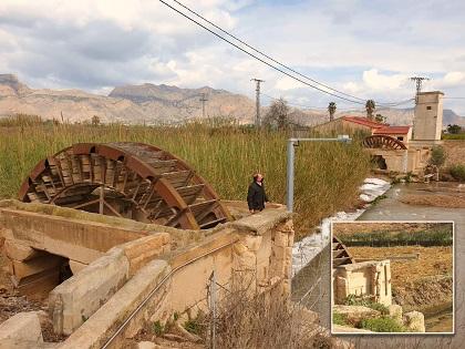 Patrimonio Histórico de Orihuela pedirá a la Confederación Hidrográfica del Segura el traslado del medidor de nivel de la Noria de Pando