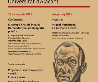 La Universidad de Alicante conmemora el 79 aniversario de la muerte del poeta Miguel Hernández