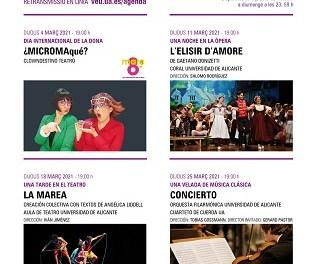Nova programació cultural de la Universitat d'Alacant per al mes de març
