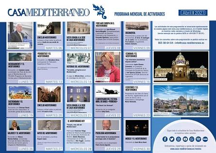 Cultura, economia i actualitat euromediterrània en la programació d'abril de Casa Mediterraneo