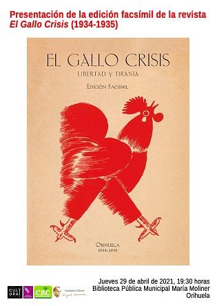 """Aquest dijous es presentarà l'edició facsímil de la revista """"El Gallo Crisis"""""""