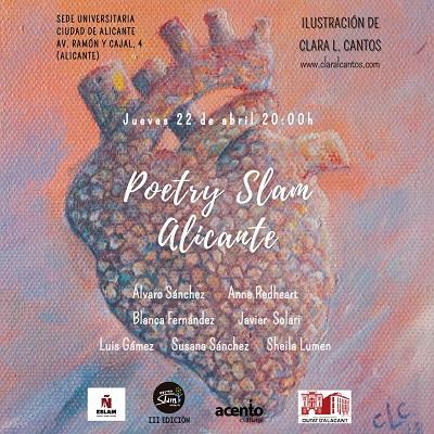 Abril de poesía llega a Alicante con una nueva sesión del Poetry Slam