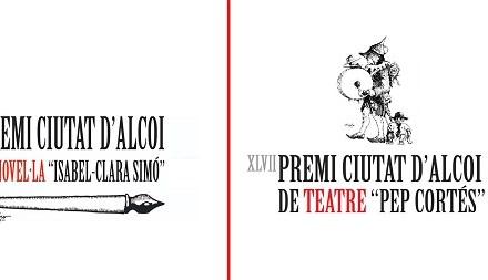 Publicadas las bases de los premios 'Ciutat d'Alcoi' de novela Isabel-Cara Simó' y de teatro Pep Cortés dotados con 8.000 euros cada uno