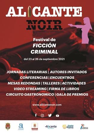 Alicante celebra su primera edición del festival de ficción criminal Alicante Noir con la presencia del premio Planeta, Eva García Sáenz de Urturi