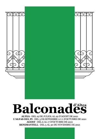 Els carrers del nucli antic es converteixen en una galeria d'art amb Balconades d'Altea