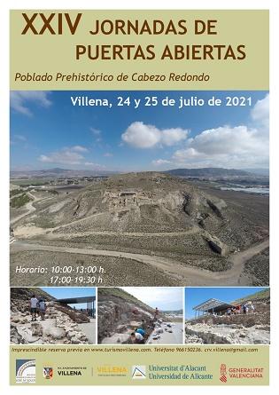 Arqueólogos de la UA explican el Cabezo Redondo, sus avances y hallazgos, en las Jornadas de Puertas Abiertas de este fin de semana en Villena