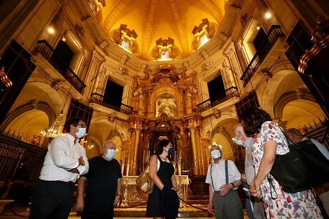 La Diputación se compromete a cooperar en la restauración de la Basílica de Santa María de Elche