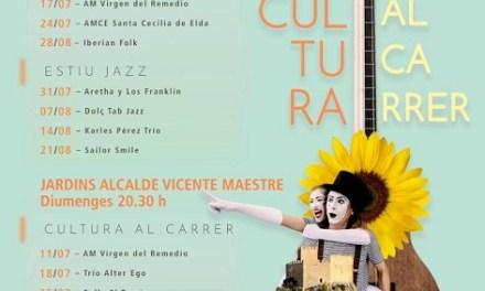 """La programació musical de """"Cultura al carrer"""" de Petrer contempla 8 actuacions per al mes d'agost"""