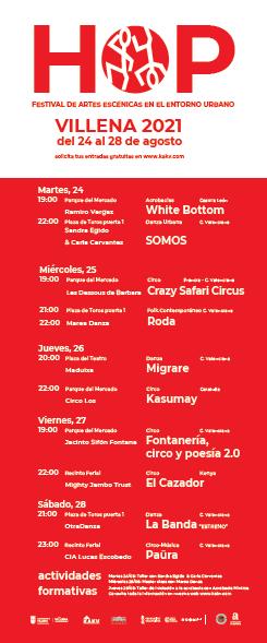 El festival de circo HOP¡¡! de Villena ofrecerá diez espectáculos en su 5ª edición