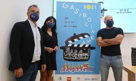 La Diputación de Alicante presenta el cartel de la primera edición independiente del Festival Gastro Cinema