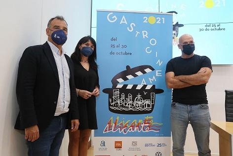 La Diputació d'Alacant presenta el cartell de la primera edició independent del Festival Gastro Cinema