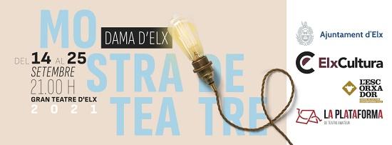 Un total de 175 persones actuaran en la XXVI Mostra de Teatre Dama d'Elx que se celebrarà del 14 al 25 de setembre en el Gran Teatre