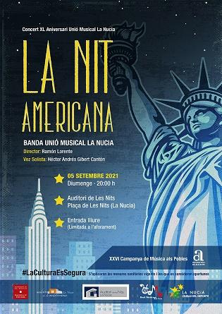 """El concierto """"La Nit Americana"""" en La Nucía dedicado a la música americana este 5 de septiembre"""