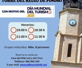 El Pinós celebrarà el Dia Mundial del Turisme amb visites guiades a la Torre del Rellotge