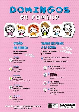 Cultura de Alicante propone una decena de funciones y eventos gratuitos para público infantil en La Lonja y Séneca