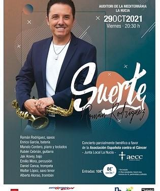 """Román Rodríguez con banda de músicos invitados presenta """"Suerte"""" en La Nucía"""