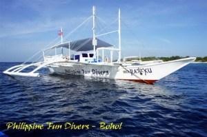 Bohol fun Divers Dive Boat