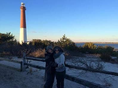 Barnegat Light, LBI with Davi Cohen last winter.