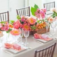Hochzeit in Apricot