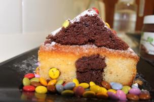 como hacer un pastel con niños 3