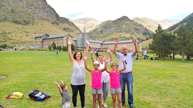 vall de nuria familia amb nens